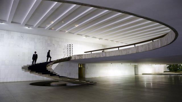 Escada helicoidal, no Palácio do Itamaraty