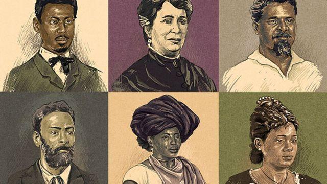 Ilustração brasileiros que lutaram contra a abolição