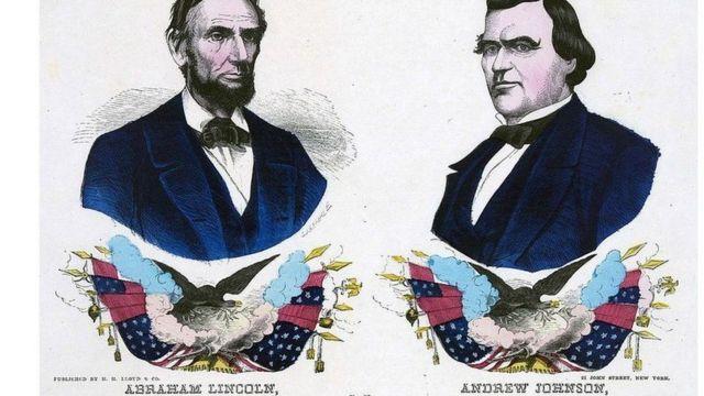 كان جونسون نائبا لابراهام لنكولن