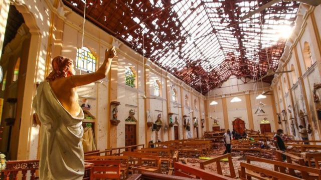 Iglesia devastada