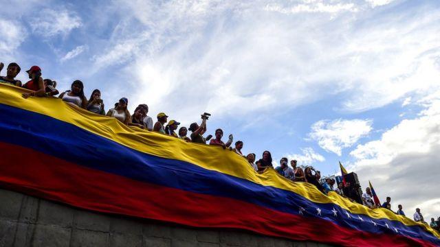 """Venezuela""""da dün başlayan genel grev, bugün de sürüyor"""