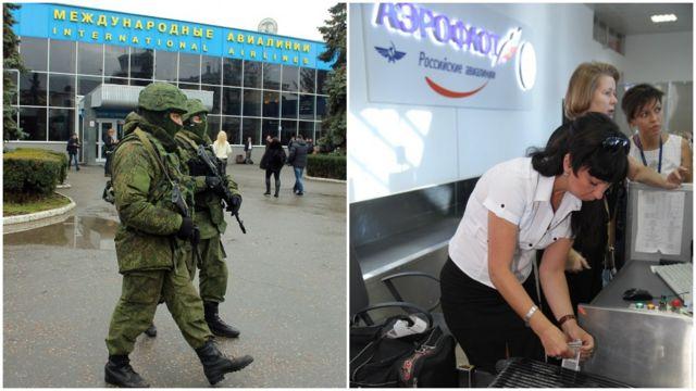 """28 лютого 2014 року в аеропорті Сімферополя з'явилися """"зелені чоловічки"""". А згодом там з'явився російський """"Аєрофлот"""""""