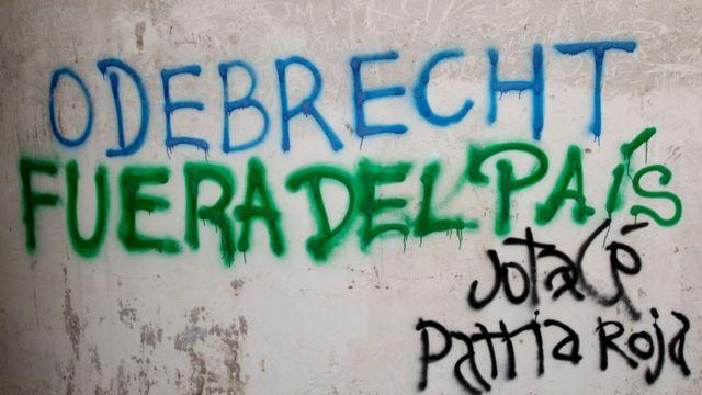 Pintada contra Odebrecht