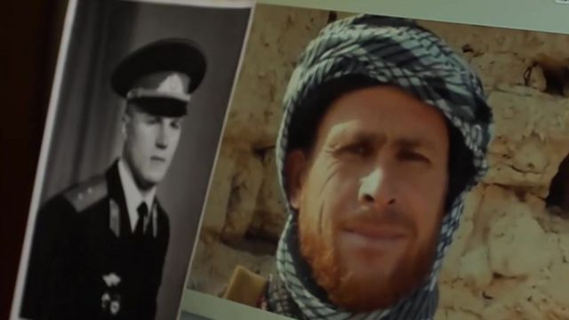Fotos de Igor Bilokurov e do homem achado no Afeganistão