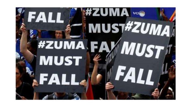 Waandamanaji wanaopinga uongozi wa rais Zuma