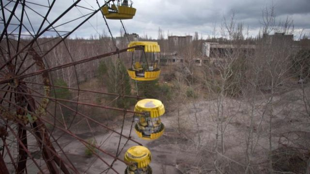 Abandoned site at Chernobyl