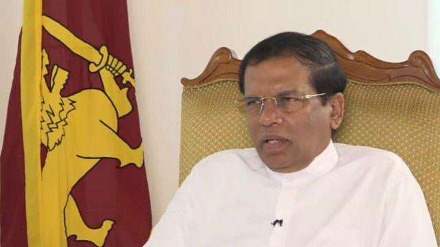 Sri Lankan President Maithripala Sirisena.