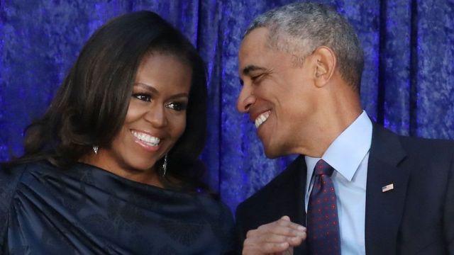 Obama iyo xaskiisa ayaa lagu wadaa inay jilaan filin laga baahin doono shirkadda Neftlix
