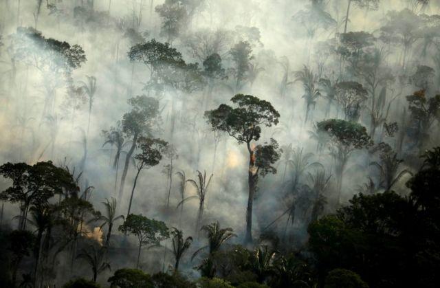 Floresta em chamas na Amazônia