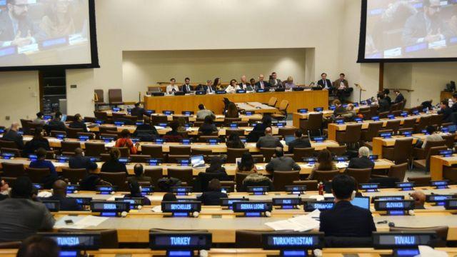 зал заседаний в штаб-квартире ООН