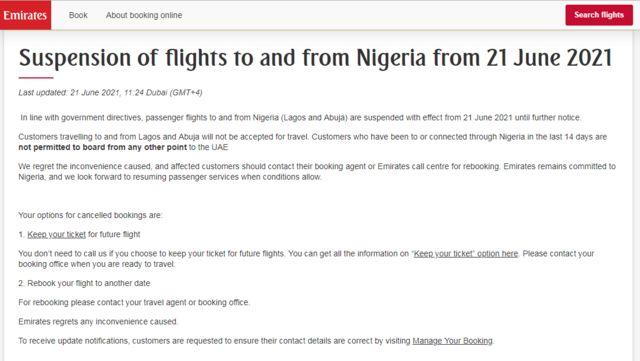 """""""Emirates flights"""" Dubai Nigeria:"""