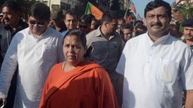 أوما بهارتي وزيرة الموارد المائية في الهند