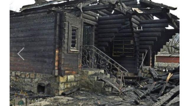 Ось, що залишилось від храму після пожежі