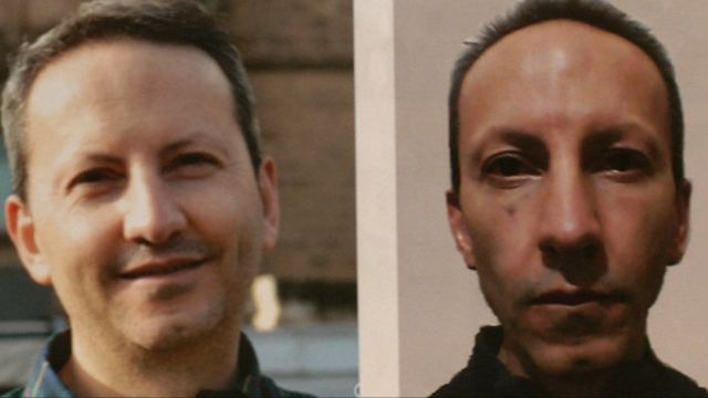 Ahmadreza Djalali, antes y después.