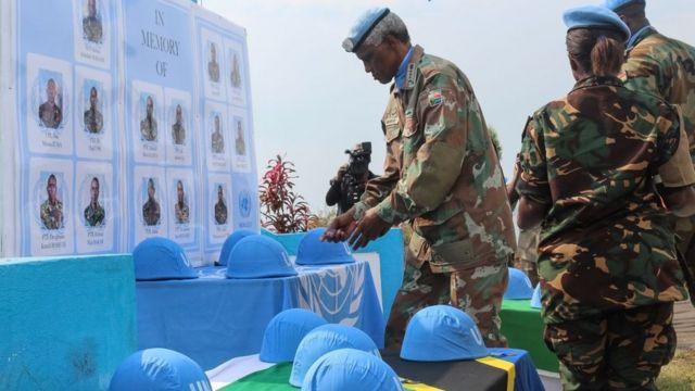 похороны танзанийских миротворцев