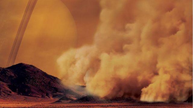 Пыльная буря на Титане