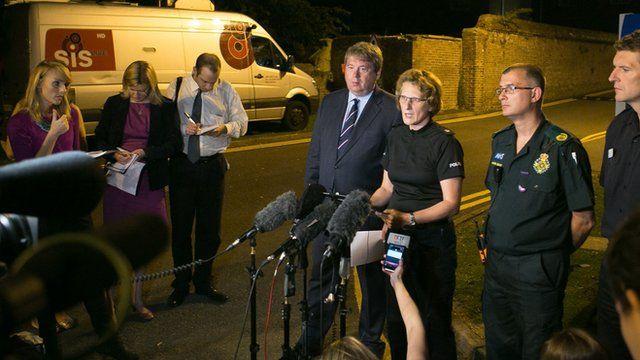 Sussex Police Superintendent Jane Derrick speaks to the press