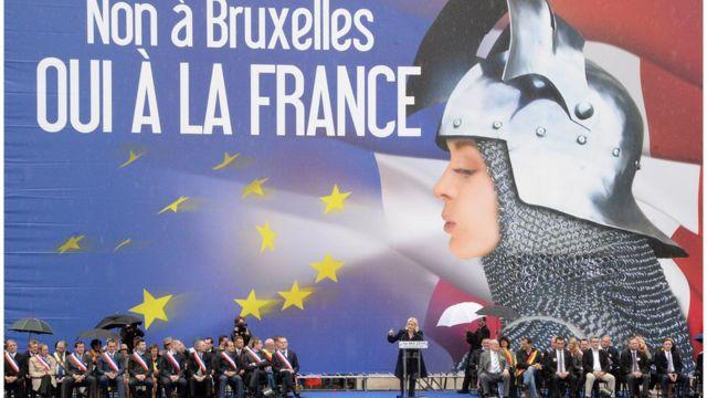 Comício da Frente Nacional, partido francês