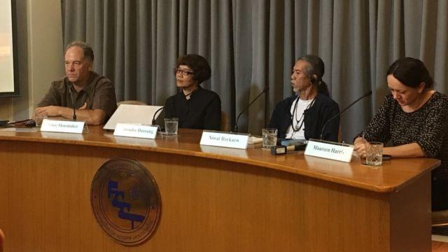 บรูซ ชูเมคเกอร์, น.ส.เปรมฤดี ดาวเรือง (จากซ้ายสุด) ไม่เชื่อข้อมูลการประเมินผลกระทบจากเหตุเขื่อนแตกในลาวตามที่ทางการลาวกล่าวอ้าง