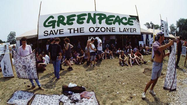 Greenpeace y la defensa de la capa de ozono.