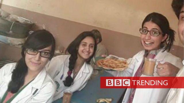 Medical students drinking tea