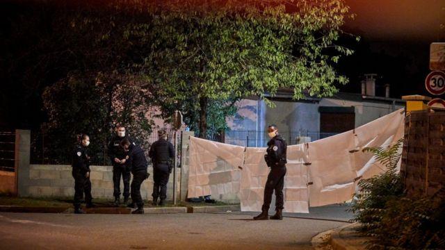 Olay yeri polis kordonu altına alındı
