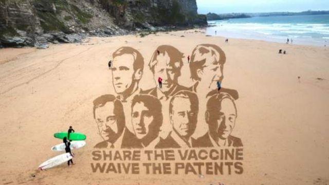 G7 zirvesinin yapıldığı Cornwall çevresinde çok sayıda kampanya grubu aşı, çevre ve yoksullukla mücadele konulu protestolar yapıyor