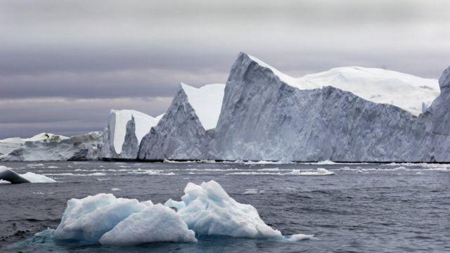 Icebergs en Dinamarca.