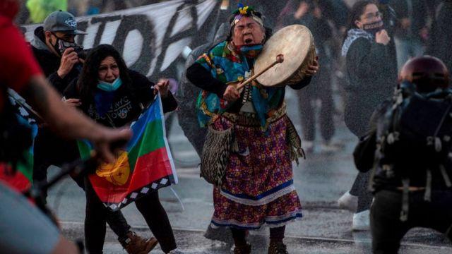 Protesta contra el gobierno en Santiago de Chile (4 de septiembre)