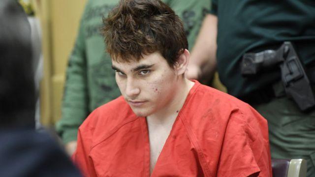 Nikolas Cruz en un juicio en Fort Lauderdale