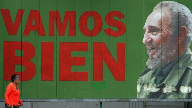 Cartel alusivo a Fidel Castro