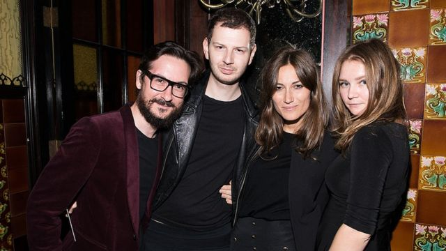 Anna Sorokin (right), then known as Anna Delvey, at a fashion event at a New York hotel in 2014