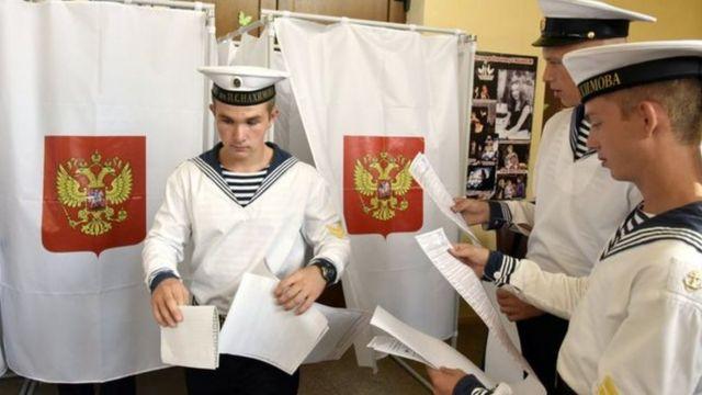 2014-cü ildə Rusiya tərəfindən ilhaq edilmiş Krımda seçkilərin keçirilməsi Ukraynanı qəzəbləndirib