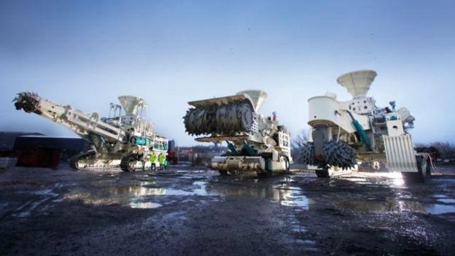 Excavadoras para minería de profundidad en el océano