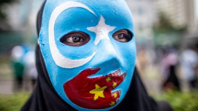 демонстрация в защиту уйгуров