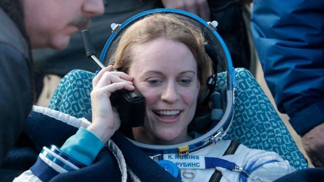 U.S. astronaut Kate Rubins