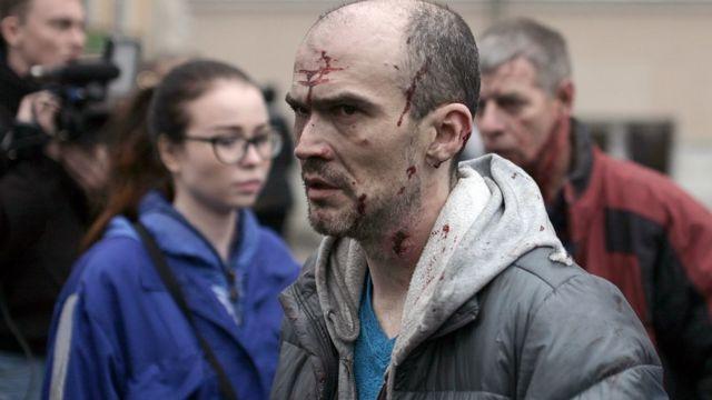 Một người bị thương ngoài ga tàu điện ngầm Tekhnologichesky Institut