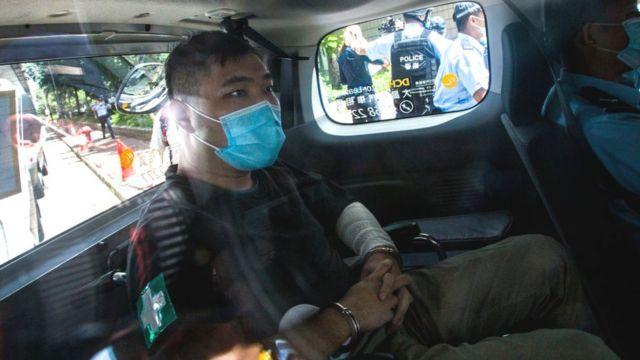 唐英傑乘車到法庭應訊(6/7/2020)