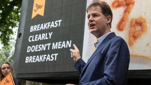 Liberal Demokrat Parti'nin eski lideri Nick Clegg
