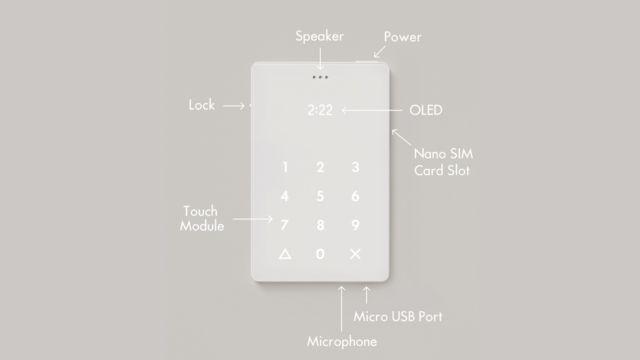 作为外部键盘的替代,Light Phone让光穿过半透明的前面板,模拟出一个拨号键盘。