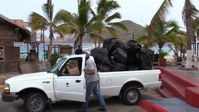 Residents prepare for Hurricane Newton