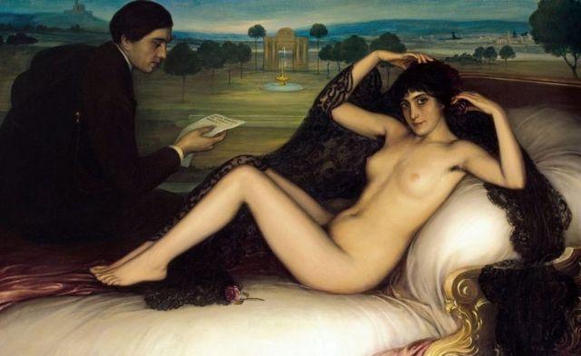 """""""Venus de la poesía"""", de 1913, del pintor español Julio Romero de Torres (1874-1930)."""
