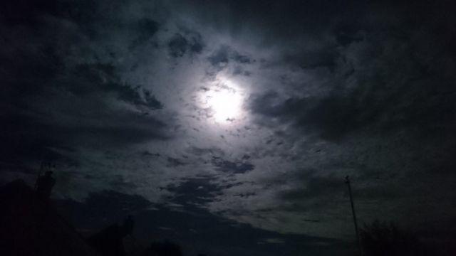 Moon seen through clouds