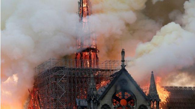 Zvonik Notr Dama u plamenu
