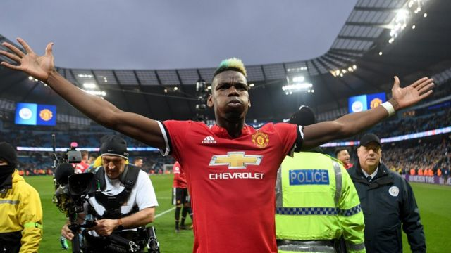 Paul Pogba dey jolly after Man Utd flof City 3-2