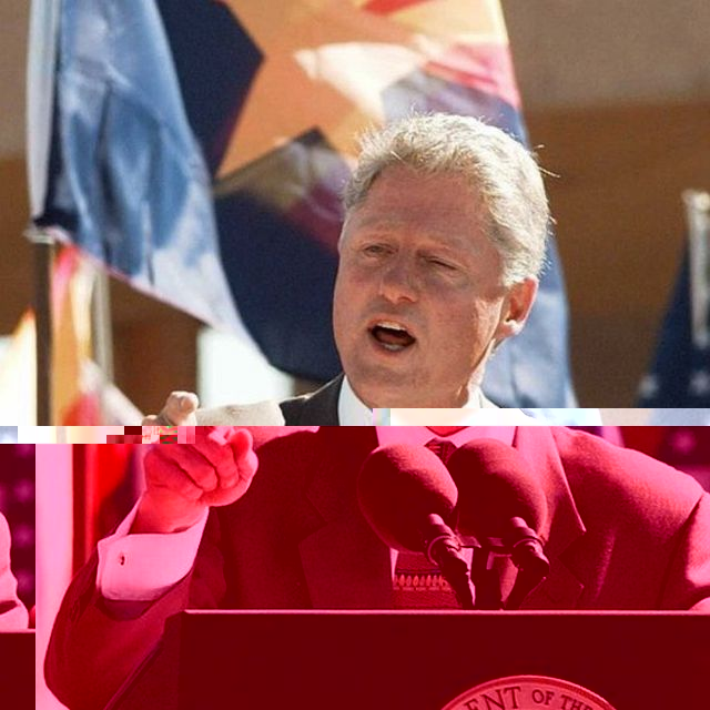 Bill Clinton during a speech in Arizona.