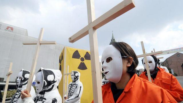 2011년 후쿠시마 원전 사고 후, 한국의 원전 정책을 반대하는 시위