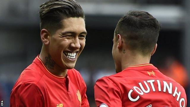 Roberto Firmino na Philippe Coutinho wamefunga kati ya mabao 4 kati ya 5 ya Liverpool