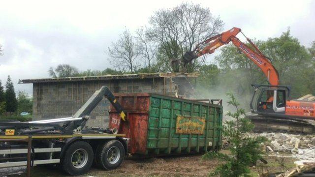 Studio being demolished