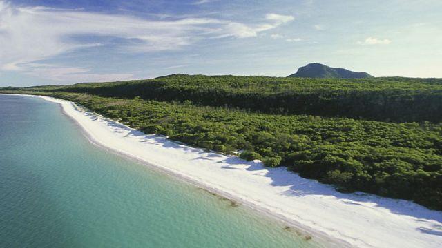 Whitehaven Plajı, Whitsunday Adaları, Queensland, Avustralya